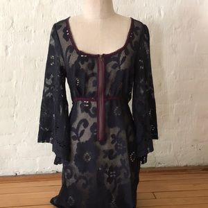 Free People Lace Dress Zip front Medium